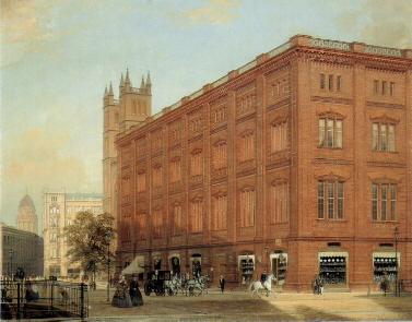 Die Bauakademie um 1868